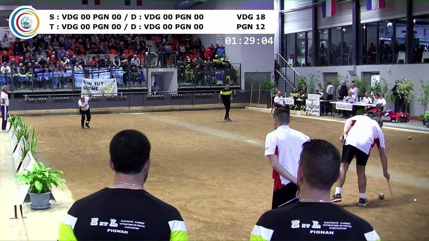 Quatrième tour,, Finale N4, Pignan contre Vallée de Gresse, France Clubs 2018, Balaruc-les-Bains 2018