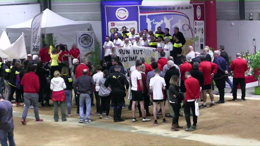 Podium,, Finale N4, Pignan contre Vallée de Gresse, France Clubs 2018, Balaruc-les-Bains 2018