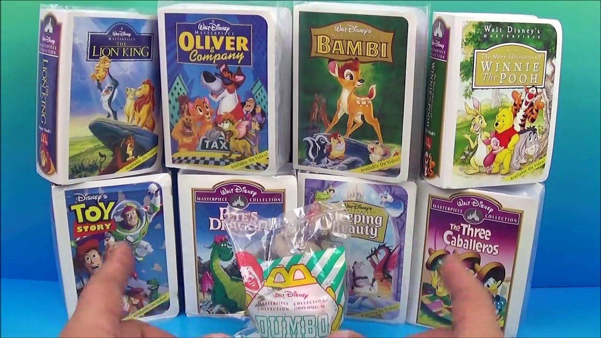 1997 Walt Disneys Masterpiece Collection Set Of 9 Mcdonalds Happy