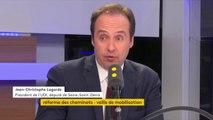 """Réforme de la SNCF : """"C'est la réforme qu'on n'a pas osé faire depuis 1990. On est conduit à se poser la question de savoir si la SNCF meurt ou si elle est capable de survivre"""", considère Jean-Christophe Lagarde, président de l'UDI #TEP"""