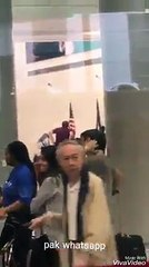 Shahid Khaqan Abbas sahab . At american airport.