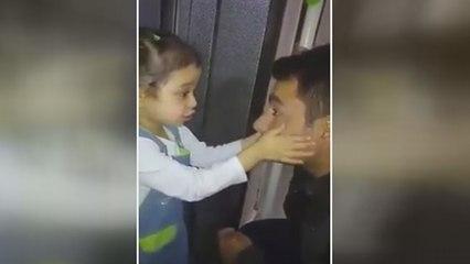 Baba kız izleyenleri duygulandırdı