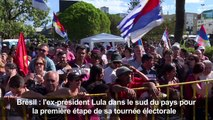 Brésil: Lula lance sa campagne électorale dans le sud du pays