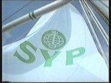 SYP Yhdyspankin purjelaiva Retro TV-mainos