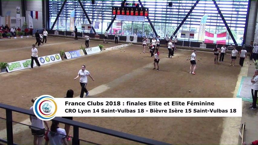 Quatrième tour, finale Elite F Bièvre Isère contre Saint-Vulbas et finale Elite CRO Lyon contre Saint-Vulbas, France Clubs 2018, Balaruc-les-Bains 2018