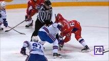 Pavel Datsyuk hit on Pavel Kraskovsky