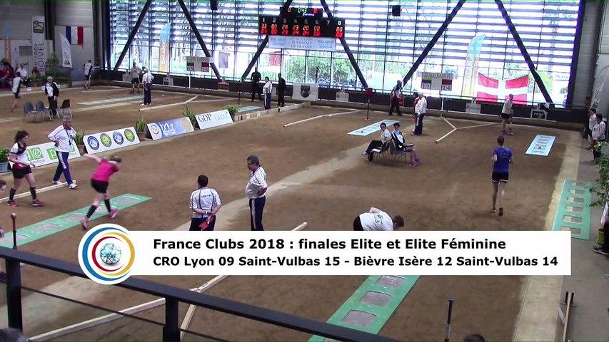 Troisième tour, tir progressif, finale Elite F Bièvre Isère contre Saint-Vulbas et finale Elite CRO Lyon contre Saint-Vulbas, France Clubs 2018, Balaruc-les-Bains 2018