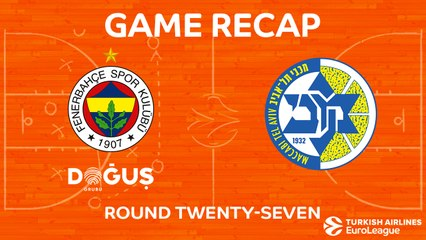 EuroLeague 2017-18 Highlights Regular Season Round 27 video: Fenerbahce 87-73 Maccabi