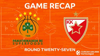 EuroLeague 2017-18 Highlights Regular Season Round 27 video: Panathinaikos 91-71 Zvezda