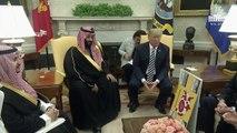 Trump Meets with Crown Prince Mohammad bin Salman of the Kingdom of Saudi Arabia.