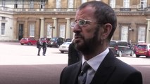 Beatles Drummer Ringo Starr Knighted at Buckingham Palace