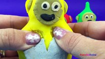 PlayDoh Surprise Teletubbies with Disney Frozen Olaf Masha Sully from Monsters University