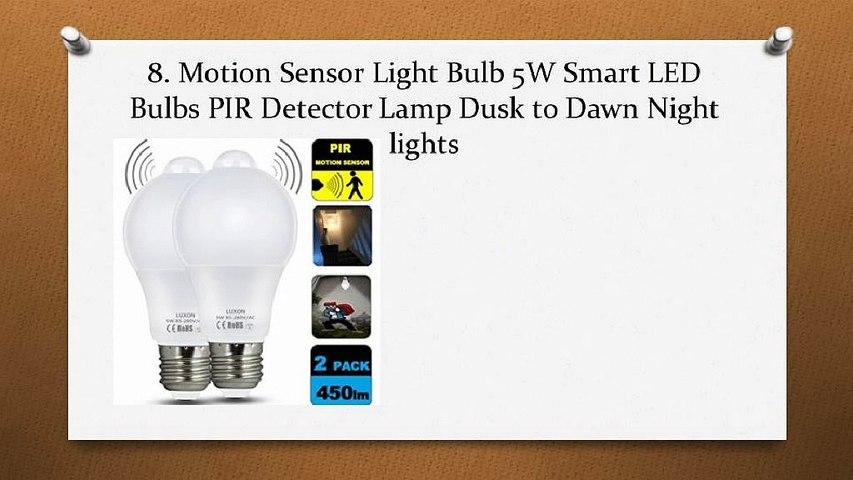 Top 10 Best Motion Sensor Light Bulbs in 2018 Reviews