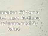 Reclamation Of Contaminated Land Modules in Environmental Science 47221103