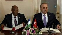 Dışişleri Bakanı Çavuşoğlu, Lesoto Dışişleri ve Uluslararası İlişkiler Bakanı ile ortak basın toplantısı düzenledi