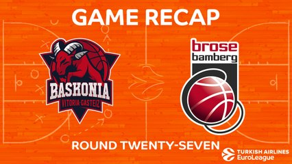 EuroLeague 2017-18 Highlights Regular Season Round 27 video: Baskonia 103-79 Bamberg