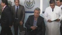 Moreno visita a los heridos del ataque mientras se prepara Comisión Binacional de Frontera