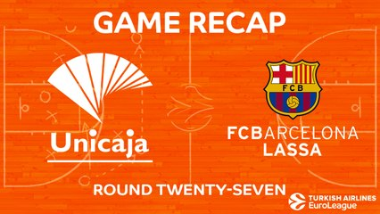 EuroLeague 2017-18 Highlights Regular Season Round 27 video: Unicaja 95-91 Barcelona