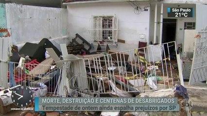 São Paulo conta os estragos causados pela chuva desta terça-feira