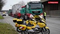 Lorient. Le convoi exceptionnel du transfo sur la RN 165
