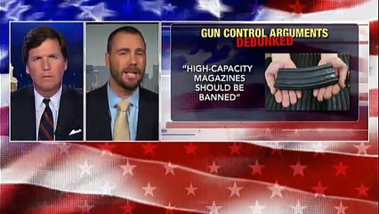 Tucker Carlson Tonight.   Former sniper debunks these popular arguments for gun control.