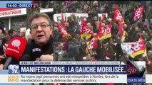 """Manifestations: l'union de la gauche """"n'est pas le sujet de la journée"""", affirme Jean-Luc Mélenchon"""