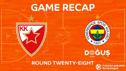 EuroLeague 2017-18 Highlights Regular Season Round 28 video: Zvezda 63-80 Fenerbahce