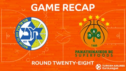 EuroLeague 2017-18 Highlights Regular Season Round 28 video: Maccabi 75-76 Panathinaikos