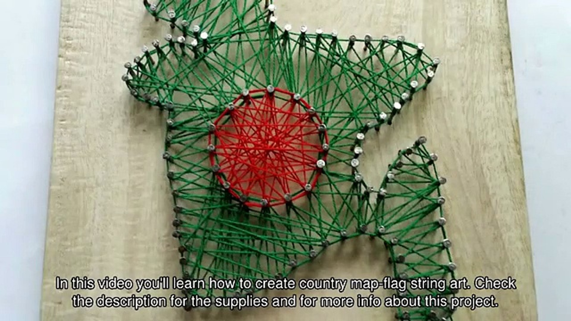 Create Country Map-Flag String Art - DIY Crafts - Guidecentral