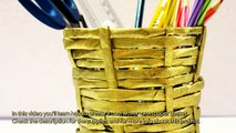 Create a Cool Woven Newspaper Basket - Home - Guidecentral