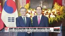 Pres. Moon receives state welcome from Vietnamese pres. S. Korea-Vietnam summit underway