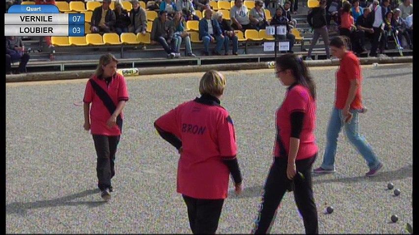 Nyons féminin 2017 : Quart de finale VERNILE vs LOUBIER
