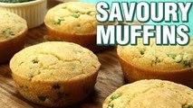 Savoury Muffins Recipe | How To Make Savory Muffins | Eggless Muffins Recipe | Neha Naik