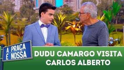 Dudu Camargo visita Carlos Alberto