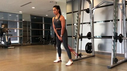 Resistance Band Workout: Pull-Throughs with Band
