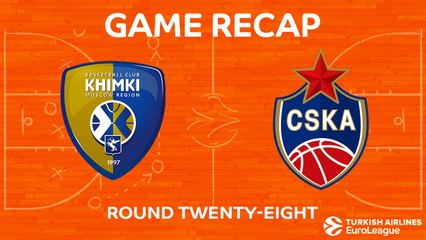 EuroLeague 2017-18 Highlights Regular Season Round 28 video: Khimki 73-90 CSKA