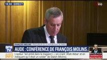 Le procureur Molins décrit le profil et le parcours judiciaire de l'auteur des attaques de l'Aude