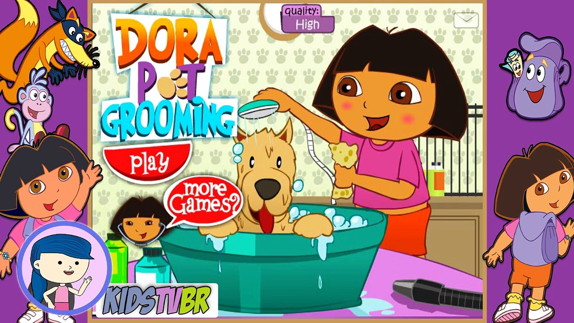 DORA AVENTUREIRA NO PET SHOP | DORA PET GROOMING | JOGOS COM EPISÓDIOS COMPLETOS | DORA GAMES | KIDS