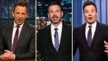 Late-Night Hosts Poke Fun at Trump & Biden's Fight Comments | THR News