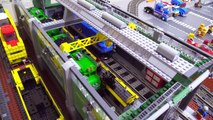 LEGO train yard & locomotive maintenance shop improvements
