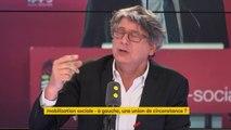 """Olivier Faure appelle à l'union des gauches : """"Tout d'un coup, il a des mots aimables parce qu'il est en difficulté. Nous sommes passés devant le Parti socialiste. Ne comptez pas sur nous pour essayer de sauver le PS"""", explique le député LFI Eric Coquerel"""