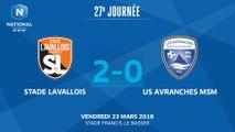 J27 : Stade Lavallois MFC - US Avranches MSM (2-0), le résumé