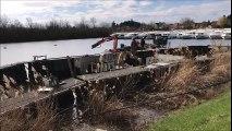 Saint-Jean-de-Losne : en plein démantèlement, la barge du Boat a coulé