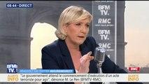 """Marine Le Pen, présidente du Front national: """"On ne doit donner la nationalité française qu'à ceux qui le mérite"""" #BourdinDirect"""