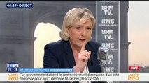 """Marine Le Pen: """"Je demande la démission de Gérard Collomb. Et Emmanuel Macron n'a jamais pris la mesure du risque terroriste"""""""