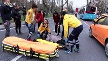 Yaralının yardımına ilk yardım öğretmen koştu