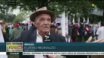 Continúa la caravana de Lula da Silva por la región sur de Brasil