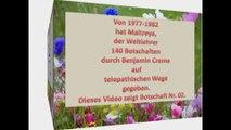 Maitreyas Botschaft Nr.2 aus dem Jahre 1977 Englisch/Deutsch