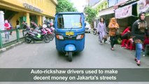 Ride-hailing apps run Indonesian tuk-tuks off road