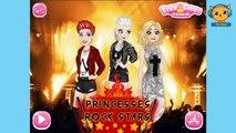 Princesses Rock Stars - Frozen Disney princess videos for girls - 4jvideo